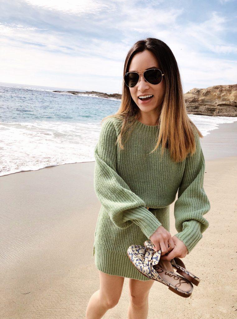 Pistachio Green Sweater Dress